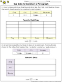 Pictographs: Use Data to Construct a Pictograph Practice Sheets - King Virtue