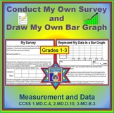 Conduct My Own Survey & Build My Own Bar Graph FREEBIE