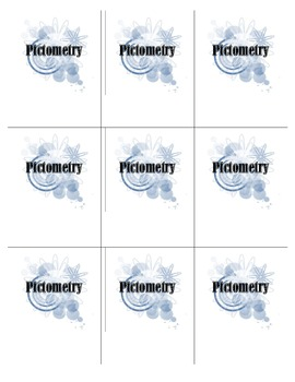 Pictometry Game Cards & Directions