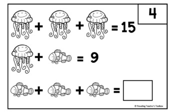 Pictorial Variable Math Task Cards