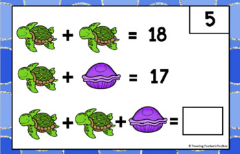 Pictorial Variable Math Challenge Task Cards