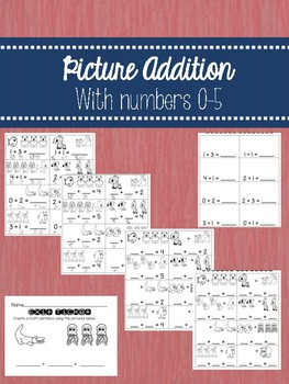 Picture Addition 0-5 Pack with Differentiated Worksheets