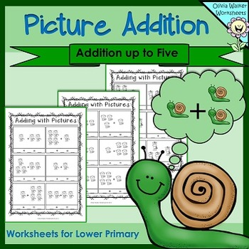 Picture Addition /Add to Five/Adding with Pictures/ Kindergarten Addition