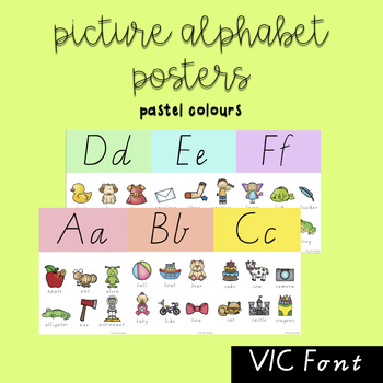 Picture Alphabet Posters