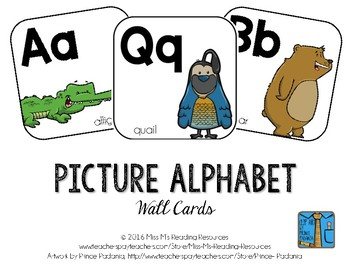 Alphabet Cards--Line and Word Wall Headers {Picture Alphabet}
