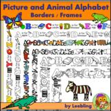 Picture Alphabet and Animal Alphabet Borders / Frames plus