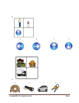 Picture Analogy for CoGAT Form 6 and Form 7(Kindergarten and Grade 1)