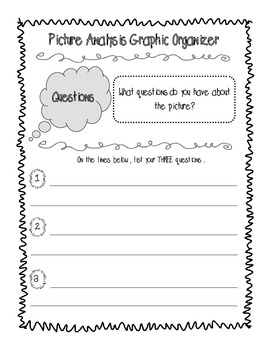 Picture Analysis Graphic Organizer for Historical Photographs