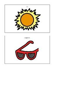 Picture Association Matching File Folder Activity