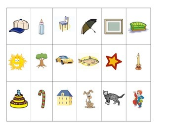 Speech Therapy: Picture Auditory Comprehension and Following Directions Activity