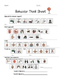 Picture Behavior Think Sheet