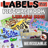 Picture Book Bin Labels {Resizeable}