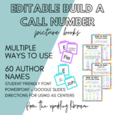 Picture Book Build a Call Number - Connecting Author Names with Call Numbers
