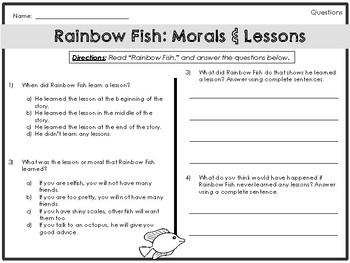 Picture Book Companion Worksheets - Centers & Early Finishers - CCSS Aligned