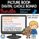 Picture Book Digital Choice Boards November - BUNDLE | Goo