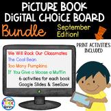 Picture Book Digital Choice Boards September - BUNDLE | Di