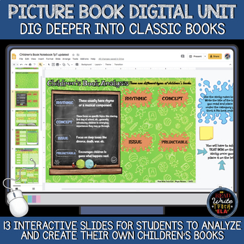 Picture Book Digital Interactive Notebook: Analysis and Creation of Books