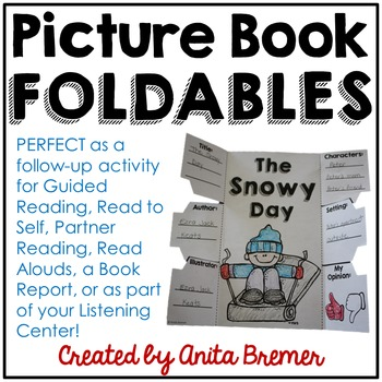 Picture Book Foldables Pack {50 books +1 blank template!}