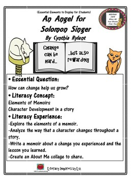 Picture Book Mentors: An Angel for Solomon Singer