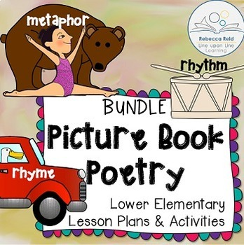 Metaphor, Rhyme, Rhythm Poetry Lessons BUNDLE based on Picture Books