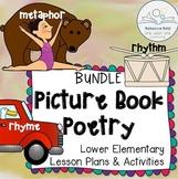 Metaphor, Rhyme, Rhythm Poetry Lessons BUNDLE based on Pic
