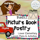 Metaphor, Rhyme, Rhythm Poetry Lessons BUNDLE based on Pic