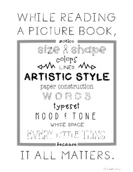 POSTERS for Picturebooks - Black and White - 5 posters