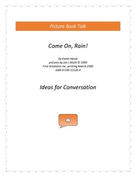 Come On, Rain !: Ideas for Conversation
