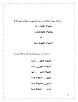 Mrs. Piggle-Wiggle's Won't Take-a-Bath Cure: Ideas for Conversation