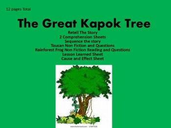 Picture Book: The Great Kapok Tree Reading Comprehension