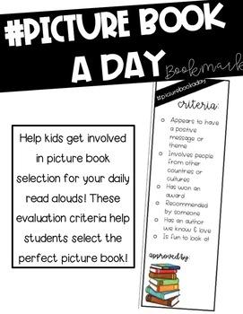 Picture Book a Day Criteria Bookmark