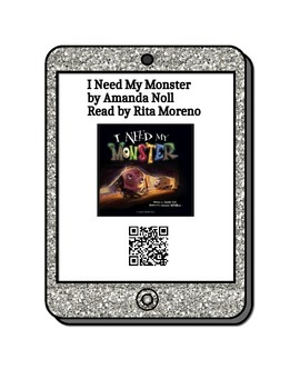 Picture Books Read Aloud - QR Codes on Glitter iPad Background