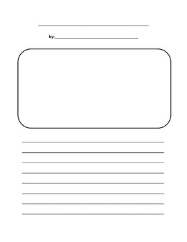 writing paper template with picture box teaching resources