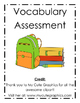 Picture Card Vocabulary Assessment