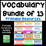 Picture Cards Bundle (13 Sets) for ELL, ESL and Vocabulary