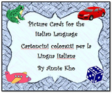 Italian Picture Cards and Worksheet