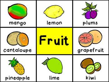 Picture Cards - Fruit