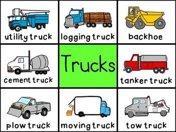 Picture Cards - Transportation/Trucks