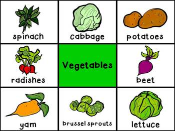 Picture Cards - Vegetables
