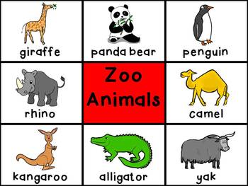 Picture Cards - Zoo Animals