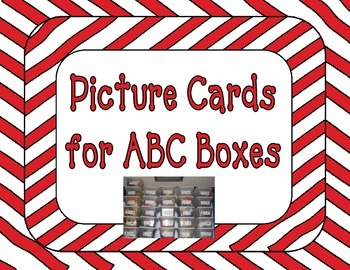 Picture Cards for ABC Boxes