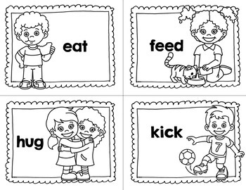 Picture Cards for Learning Action Verbs