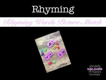 Picture Cards for Rhyming