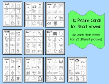 Picture Cards for Short and Long Vowels