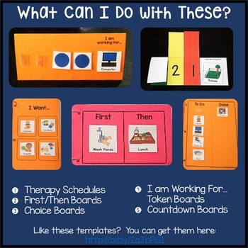 Editable Picture Cards for Therapy & Activity Schedules