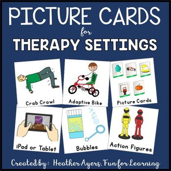 EDITABLE Picture Cards for Therapy Settings (Visual Supports)