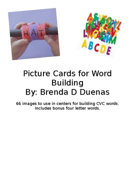 Picture Cards for Word Building