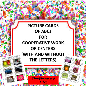 Picture Cards of ABCs for Literacy Center (with and without Letters)