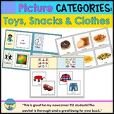 Category Picture Activities for Autism Sorting Clothing Toys and Snacks