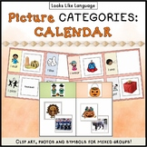 Category Picture Activities for Autism Sorting Holidays and Time Vocabulary